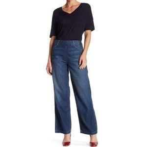 Vince High Rise Wide Leg Side Zip Jeans